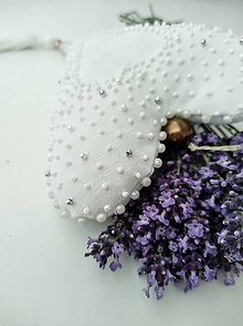 Dekorácie - Textilné srdiečko - 13496123_