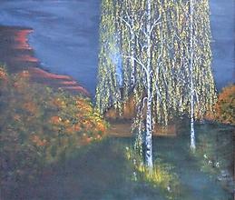 Obrazy - Súmrak pod brezami - 13495852_