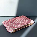 Peňaženky - Ručne vyšívaná elegantná peňaženka - ružová - 13495134_
