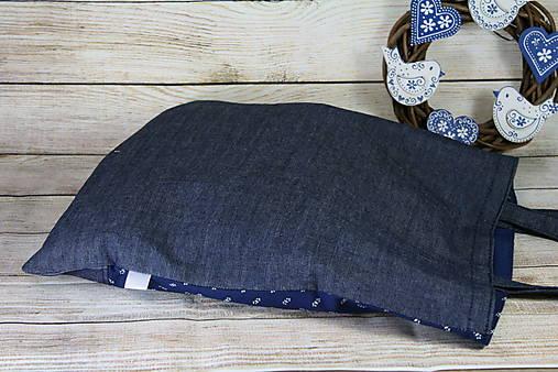 Modrotlačová nákupná taška Milka 4