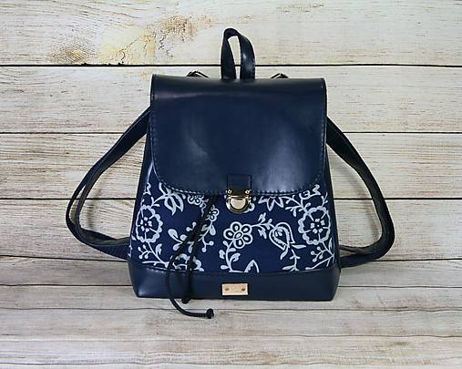 modrotlačový batoh Martin tmavomodrýmodrý 2