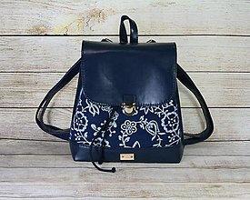 Batohy - modrotlačový batoh Martin tmavomodrýmodrý 2 - 13496968_