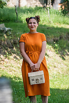 Šaty - Mušelínové šaty Oranžové - 13496629_