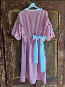 Šaty - Mušelínové šaty s mašľou - 13496650_