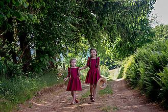 Detské oblečenie - Ľanová detská suknička na traky - 13496664_