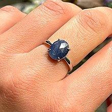 Prstene - Sapphire Silver Ring AG925 / Jemný strieborný prsteň so zafírom - 13497732_