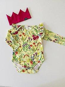 Detské oblečenie - Body DR letná lúka - 13497505_