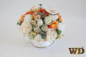 Krabičky - Kvety pre učiteľku - 13498382_