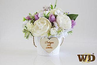 Krabičky - Kvety pre učiteľku - 13498386_