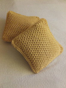 Úžitkový textil - Vankúšik žltý - 13497838_