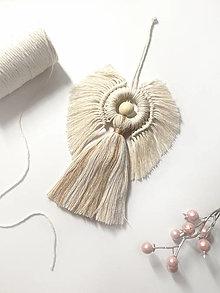Dekorácie - Anjel - makramé dekorácia - 13499782_