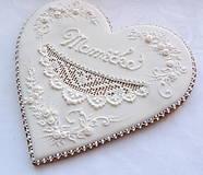 Dekorácie - Medovníkové srdiečko pre mamu - 23 cm - 13501397_