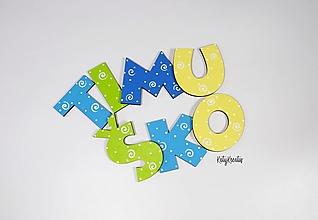 Detské doplnky - 7cm písmená vzor Timuško - 13500132_