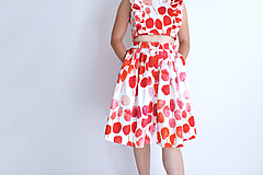 Sukne - Rozkvitnutá záhrada na sukni - 13501969_
