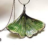 Náhrdelníky - Keramický šperk Ginko  - s platinou - 13500031_