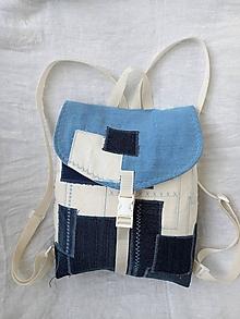 Batohy - Bielo-modrý ruksak - 13499930_