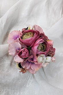 Dekorácie - Ružový aranžmán Vintage - ZĽAVA!!! - 13501305_