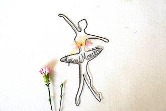 Dekorácie - Baletka s menom - 13500089_