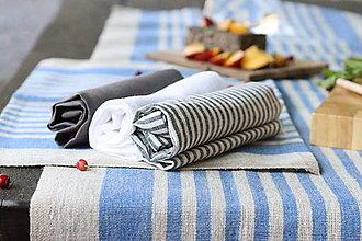 Úžitkový textil - Darčeková súprava ľanových utierok - 13502083_