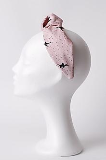 Ozdoby do vlasov - Čelenka ružová s baletkami - 13505315_