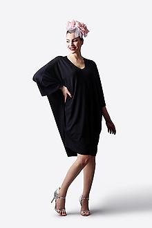 Šaty - Šaty čierne voľné - 13505328_