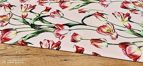 Textil - Kostýmovka - Tulipány - cena za 10 cm - 13502807_