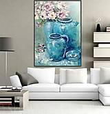 Obrazy - Turquoise velvet - 13503017_