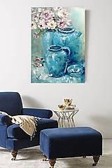 Obrazy - Turquoise velvet - 13503024_