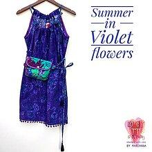 """Šaty - Letné šaty """"Violet Flowers"""" - 13502803_"""