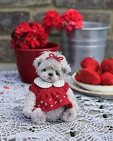 Hračky - Jahodová medvedica - 13503738_