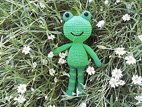 Hračky - Milá háčkovaná žabka/žabiak - 24cm - 13504433_