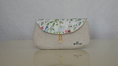Taštičky - Puzdro na okuliare- lúčne kvety na bielej - 13504669_