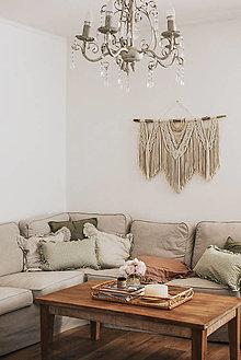 Dekorácie - Makramé dekorácia MICHAELA - 13504646_