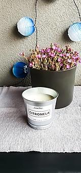 - Sójová sviečka v kvetináči (citronela 2) - 13505623_