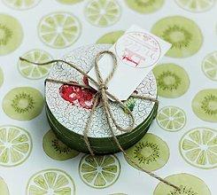 "Pomôcky - Drevené dekoračné podložky pod poháre - ""Záhradné bobule"" - 13505199_"