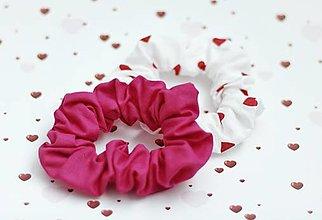 Ozdoby do vlasov - Sada 2 ks bavlnených gumičiek - malé - 13505265_
