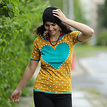 Tričká - Origo tričko srdce bodky - 13503595_
