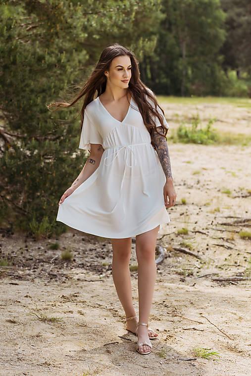 Šaty - Šaty Farfalla - smotanové - 13504507_
