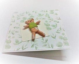 Papiernictvo - Pohľadnica ... macko v tričku - 13507424_