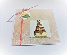 Papiernictvo - Pohľadnica ... torta - 13507490_