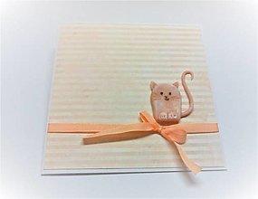 Papiernictvo - Pohľadnica ... mačička - 13507512_