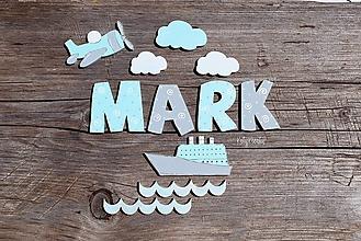 Detské doplnky - písmenká vzor Mark /objednávka/ - 13506768_