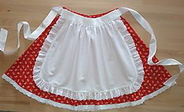 Iné oblečenie - Zásterka do pása, biela s madeirou - 13505779_