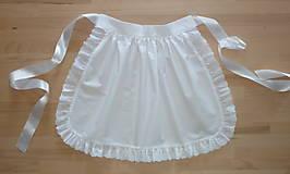 Iné oblečenie - Zásterka do pása, biela s madeirou - 13505780_