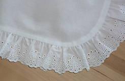 Iné oblečenie - Zásterka do pása, biela s madeirou - 13505781_