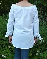 Košele - Košeľa biela a mašľové manžety - 13505804_