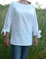 Košele - Košeľa biela a mašľové manžety - 13505805_