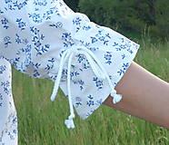 Košele - Košeľa jemné kytičky modré - 13505809_
