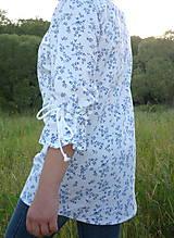 Košele - Košeľa jemné kytičky modré - 13505810_