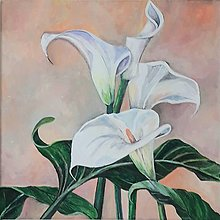 Obrazy - Calla, 40 x 40 cm, akryl - 13506830_